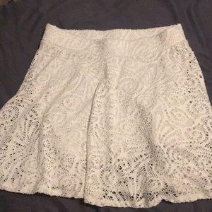 Aeropostale cream skater skirt